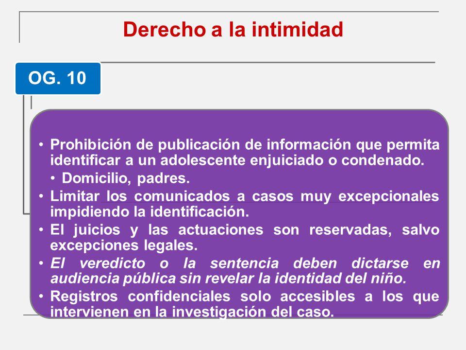 Derecho a la intimidad OG. 10