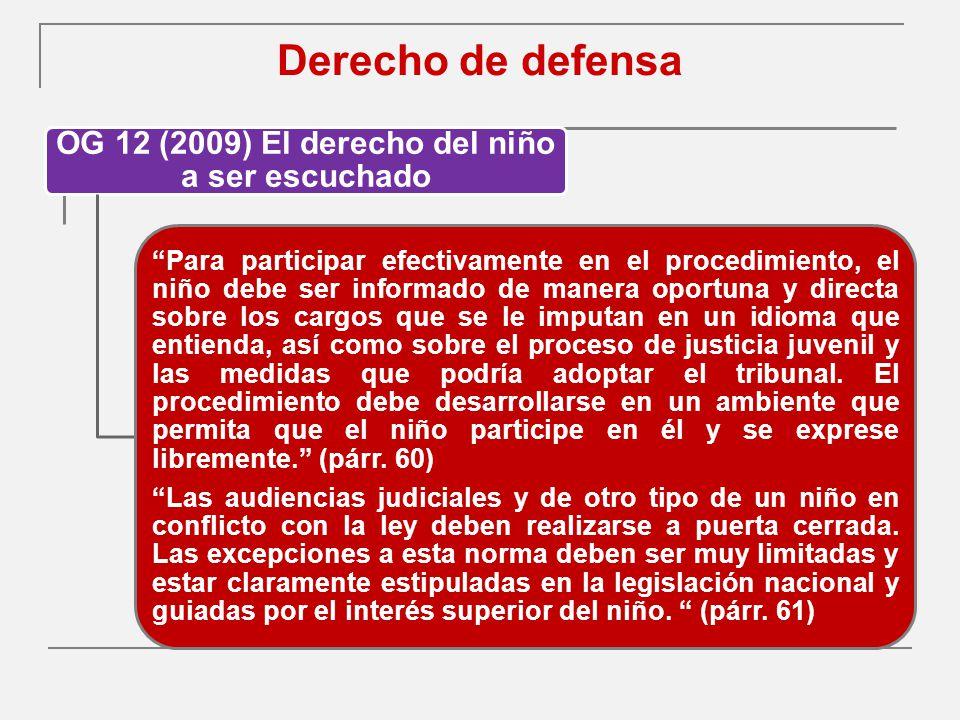 OG 12 (2009) El derecho del niño a ser escuchado