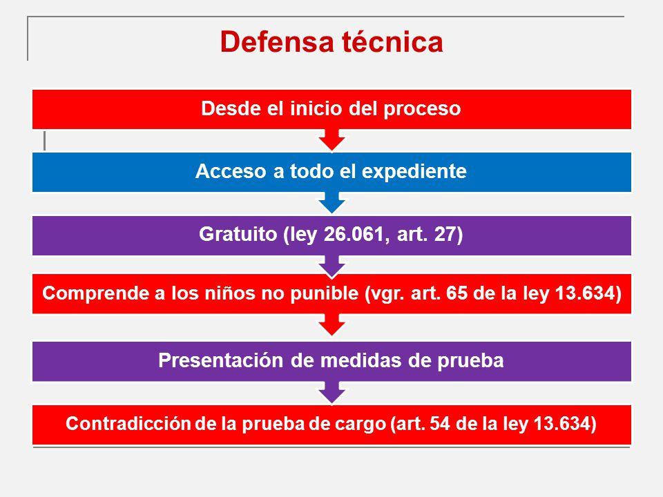 Defensa técnica Desde el inicio del proceso