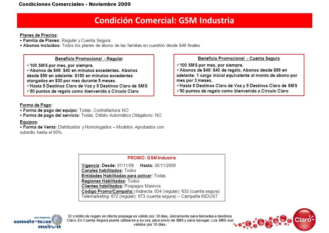 Condición Comercial: GSM Industria