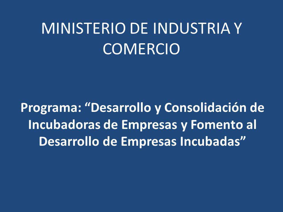 MINISTERIO DE INDUSTRIA Y COMERCIO