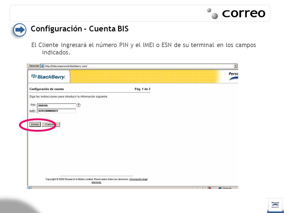 Correo Configuración - Cuenta BIS