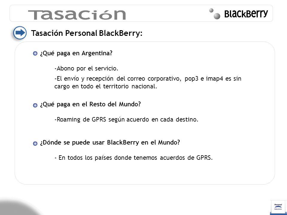 Tasación BlackBerry Tasación Personal BlackBerry: