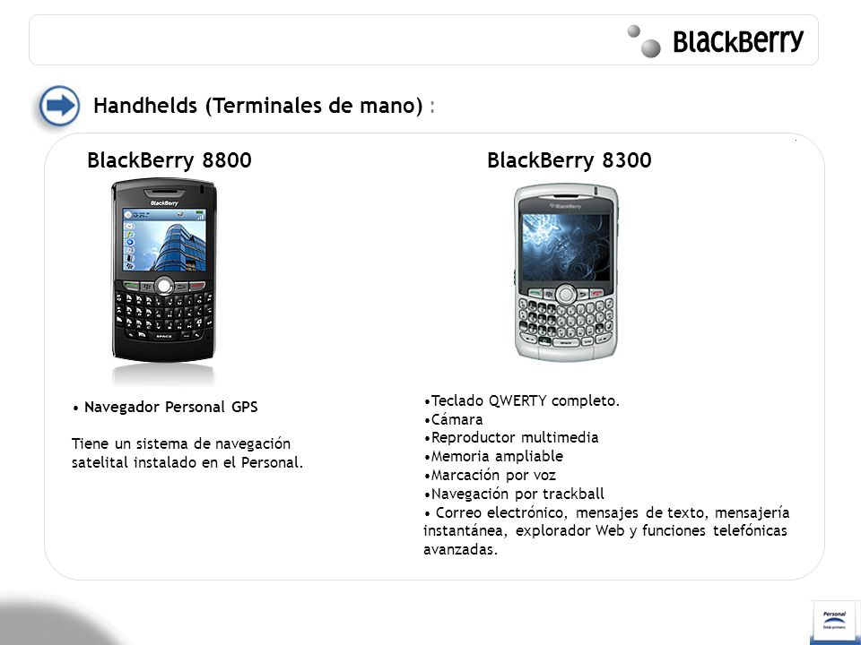 BlackBerry Handhelds (Terminales de mano) : BlackBerry 8800