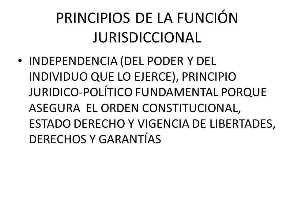PRINCIPIOS DE LA FUNCIÓN JURISDICCIONAL