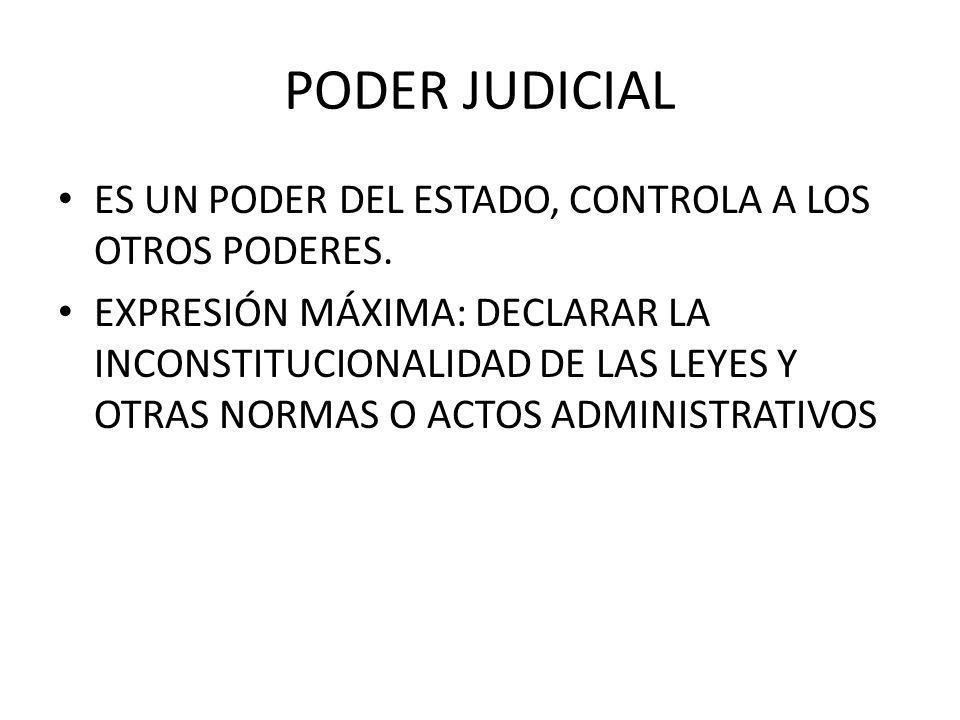 PODER JUDICIAL ES UN PODER DEL ESTADO, CONTROLA A LOS OTROS PODERES.