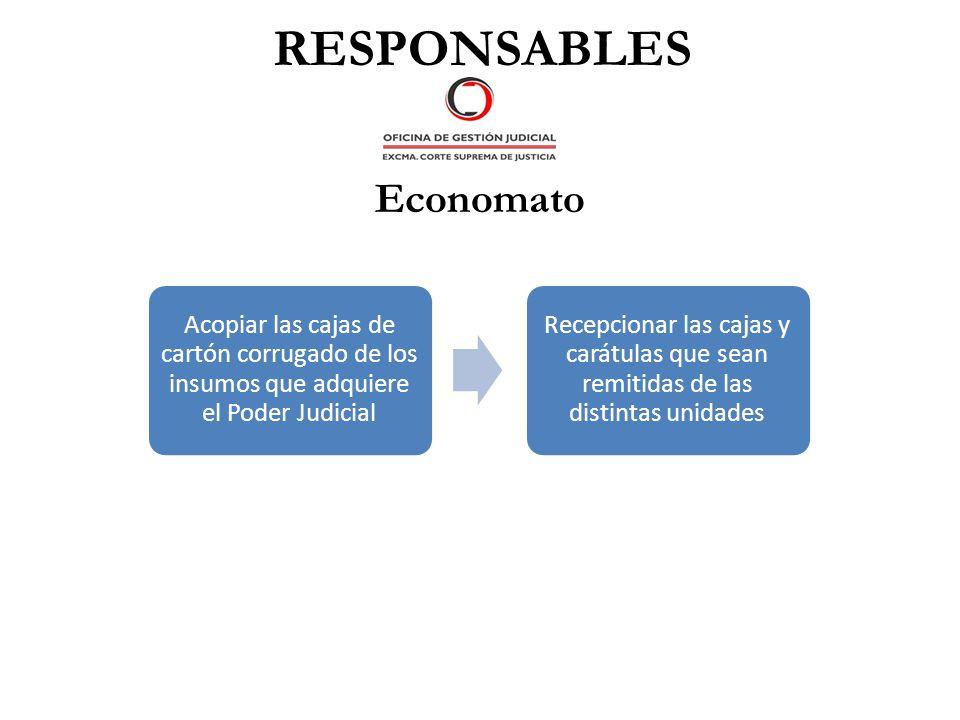 RESPONSABLES Economato
