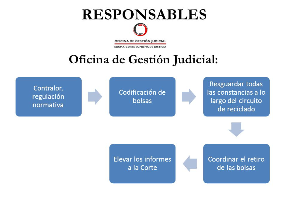RESPONSABLES Oficina de Gestión Judicial: