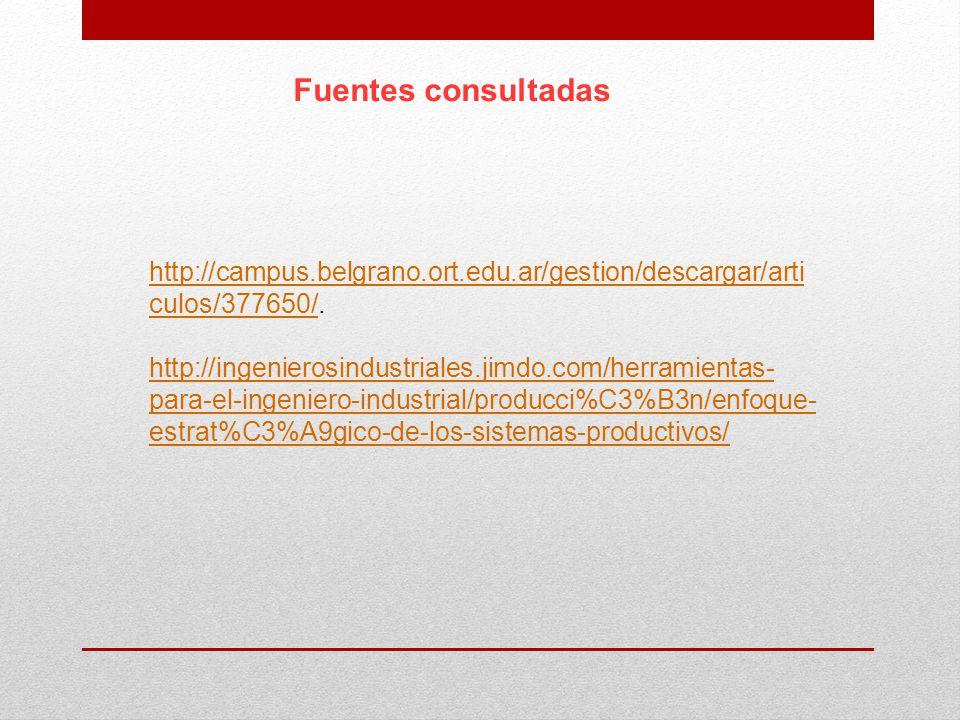 Fuentes consultadas http://campus.belgrano.ort.edu.ar/gestion/descargar/articulos/377650/.