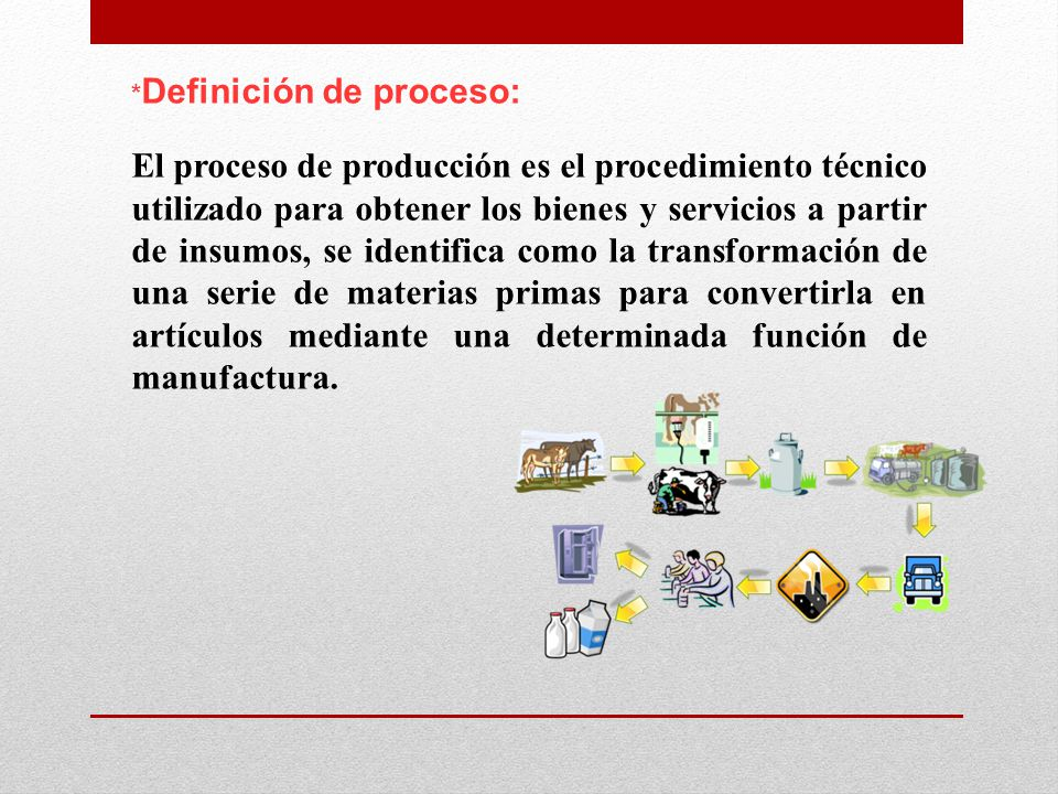*Definición de proceso: