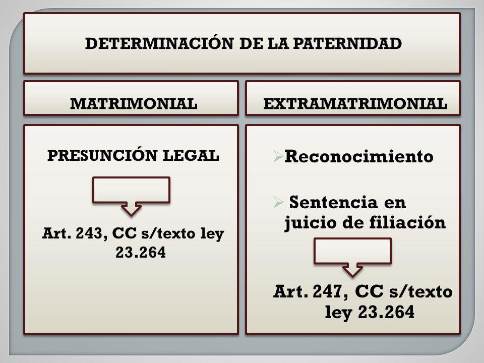 DETERMINACIÓN DE LA PATERNIDAD