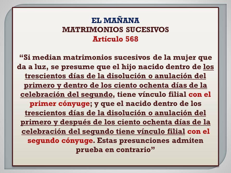 MATRIMONIOS SUCESIVOS