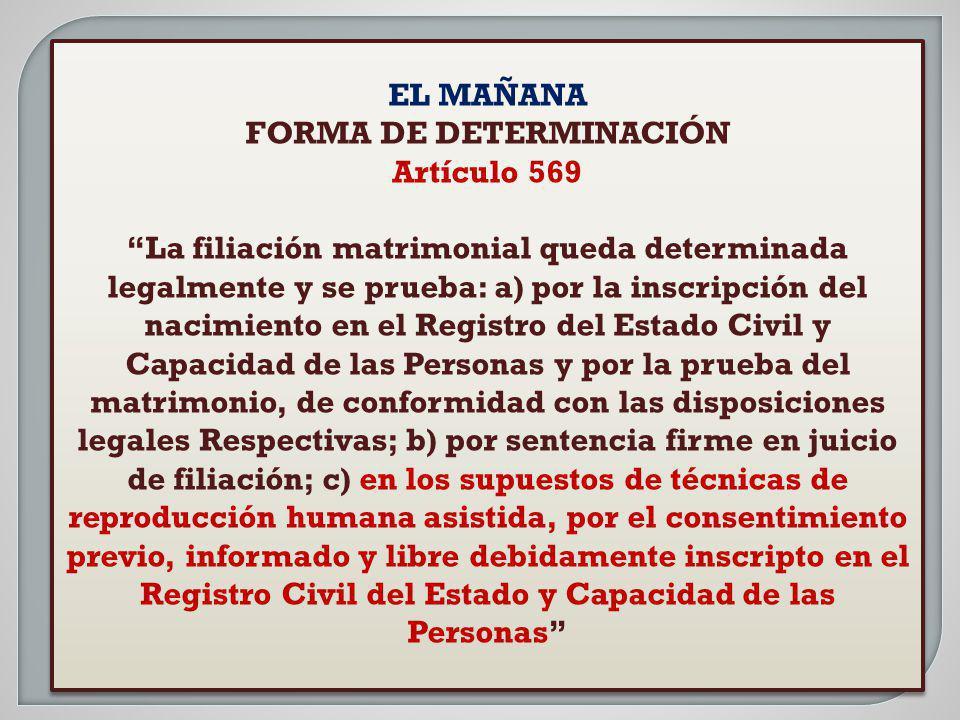 FORMA DE DETERMINACIÓN