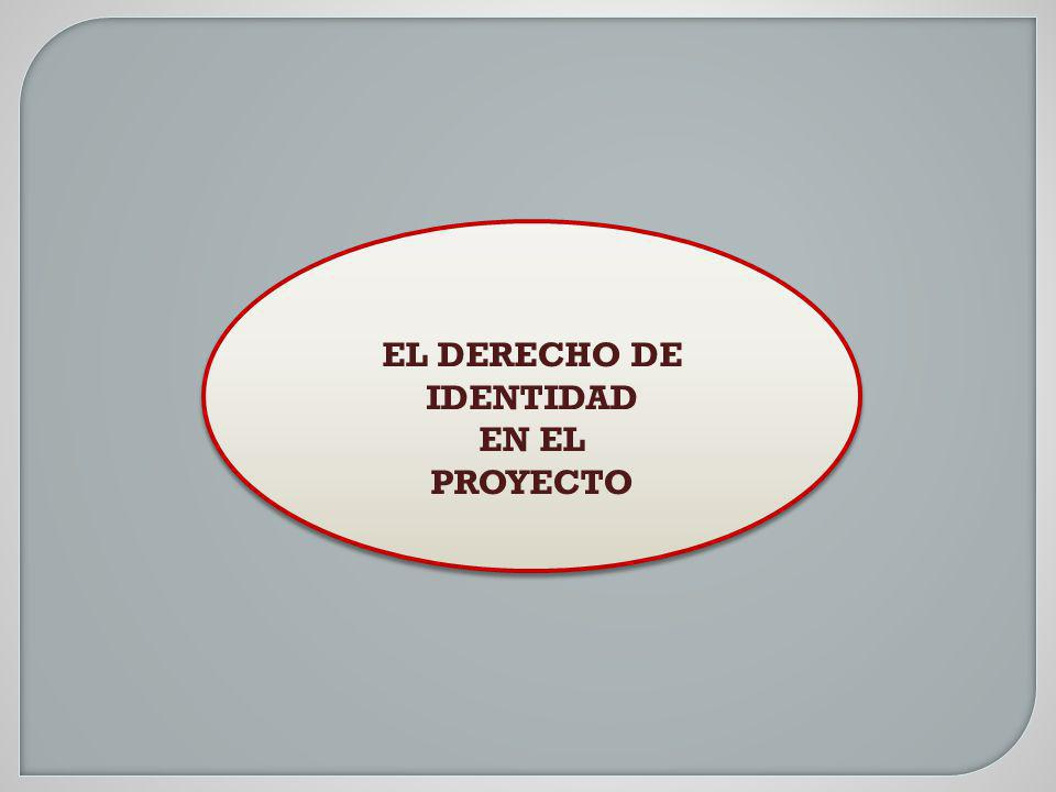 EL DERECHO DE IDENTIDAD