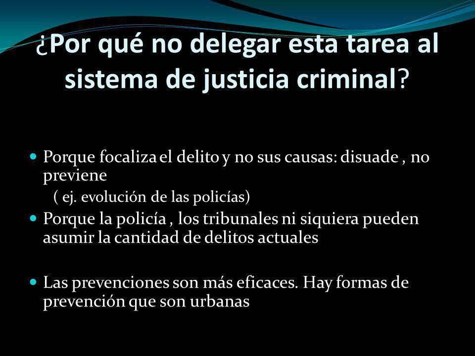 ¿Por qué no delegar esta tarea al sistema de justicia criminal