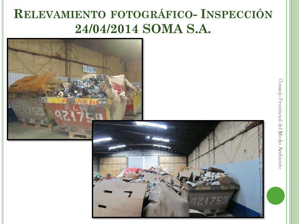 Relevamiento fotográfico- Inspección 24/04/2014 SOMA S.A.