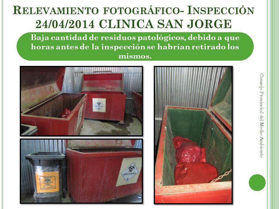 Relevamiento fotográfico- Inspección 24/04/2014 CLINICA SAN JORGE