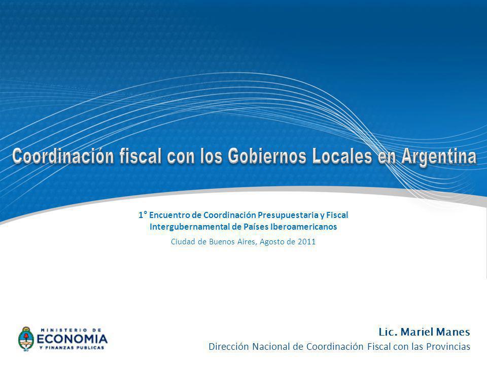Coordinación fiscal con los Gobiernos Locales en Argentina