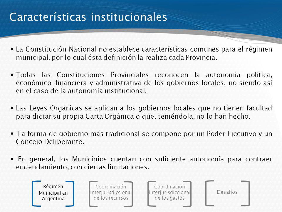 Características institucionales