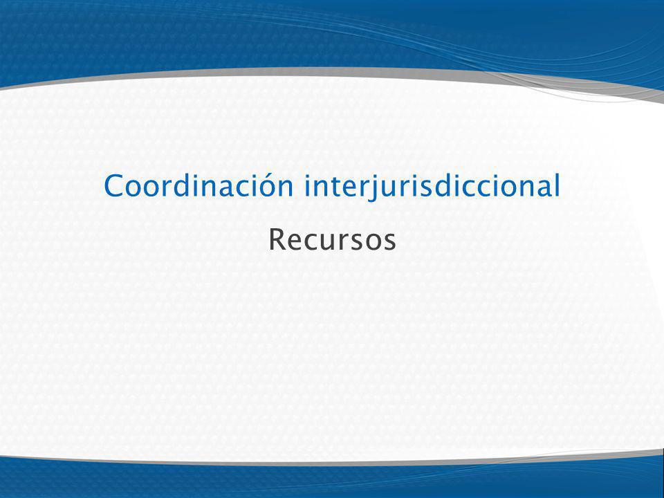 Coordinación interjurisdiccional