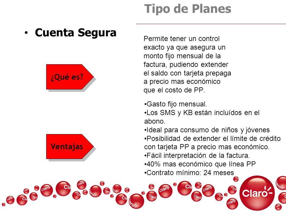 Tipo de Planes Cuenta Segura ¿Qué es Ventajas