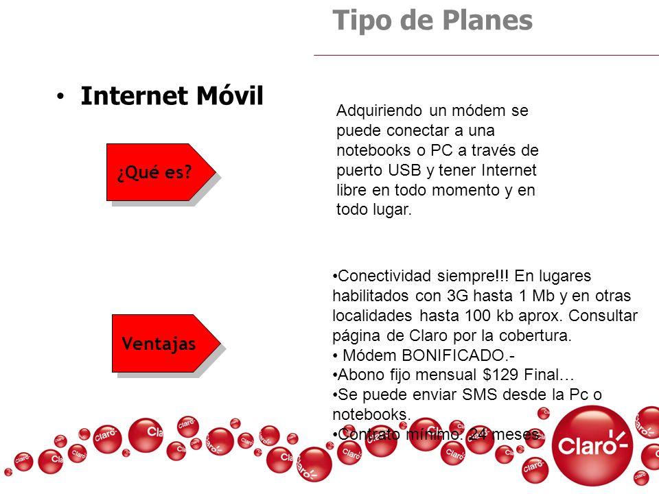 Tipo de Planes Internet Móvil ¿Qué es Ventajas