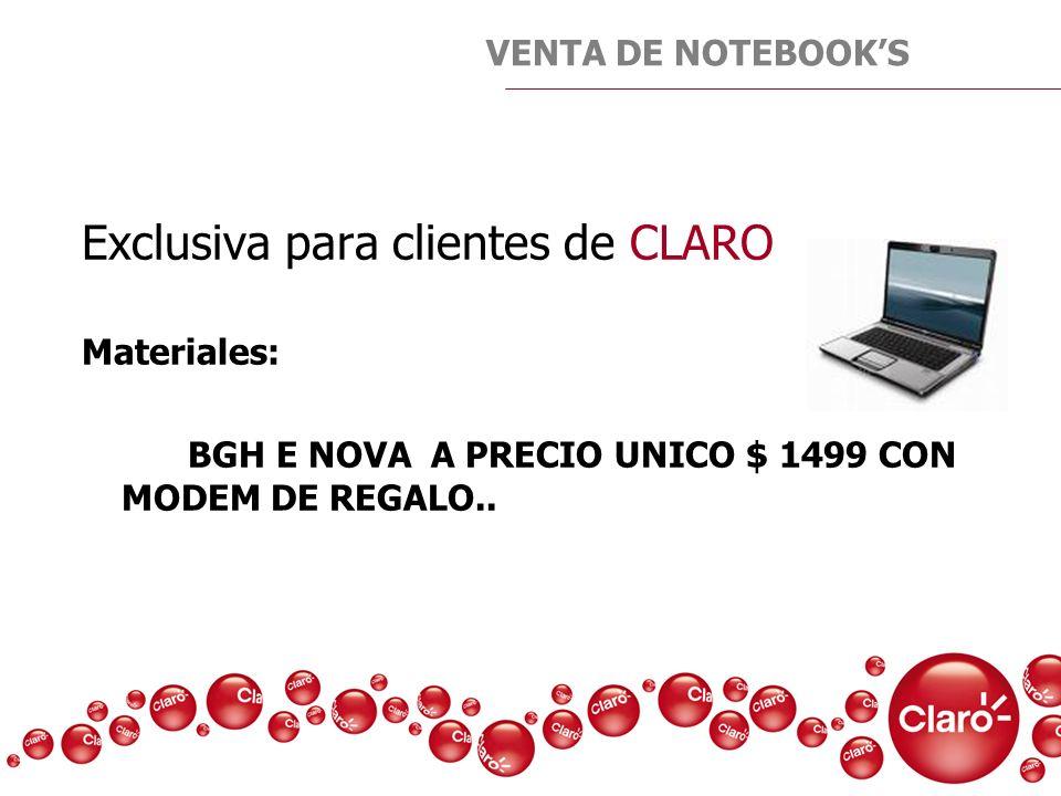 Exclusiva para clientes de CLARO