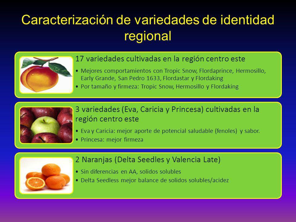 Caracterización de variedades de identidad regional