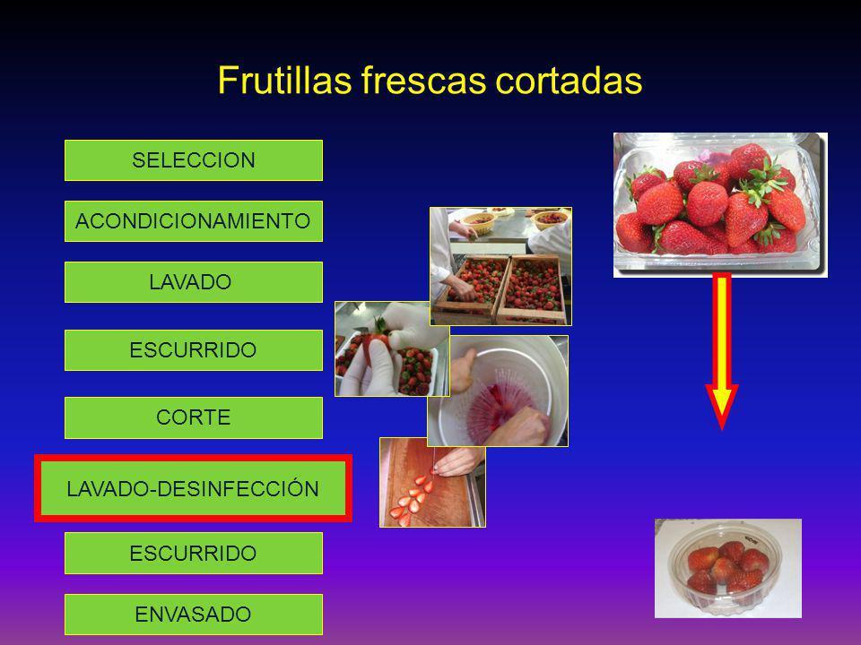 Frutillas frescas cortadas