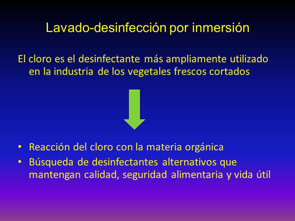 Lavado-desinfección por inmersión