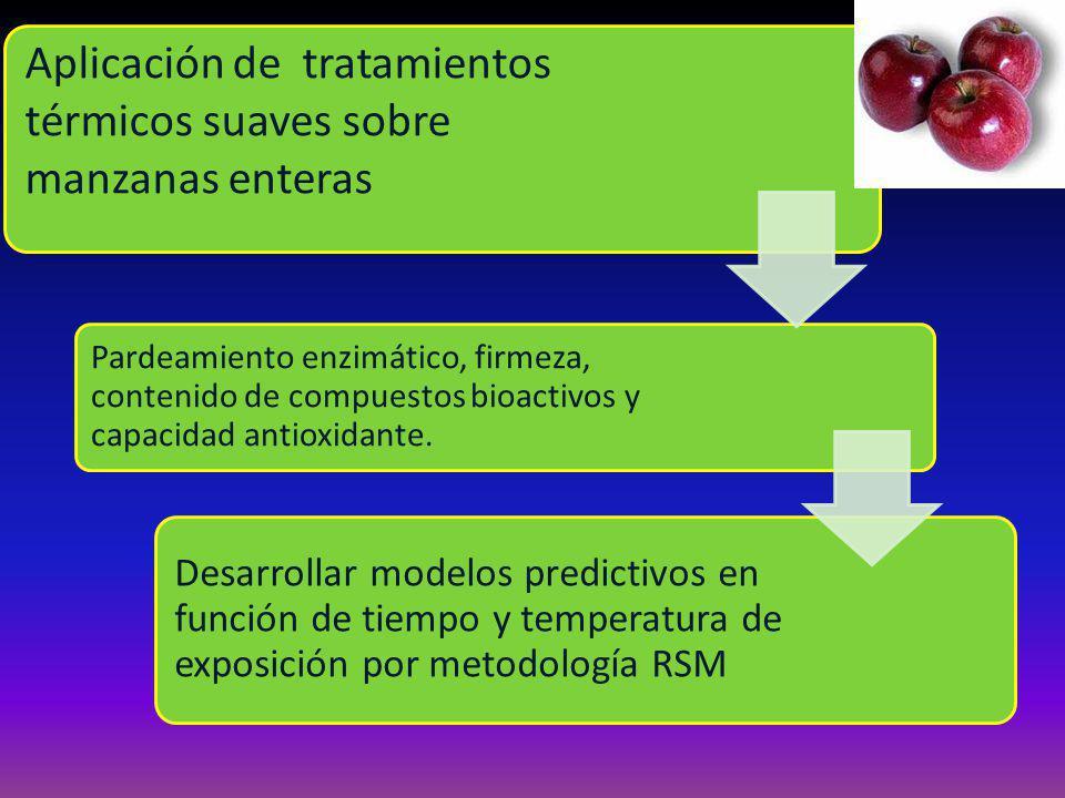 Aplicación de tratamientos térmicos suaves sobre manzanas enteras