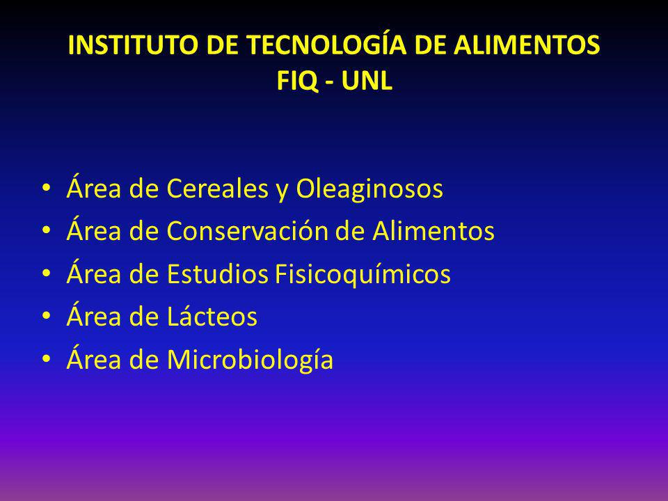 INSTITUTO DE TECNOLOGÍA DE ALIMENTOS FIQ - UNL