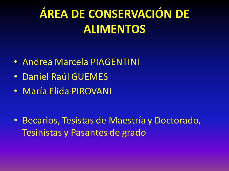 ÁREA DE CONSERVACIÓN DE ALIMENTOS