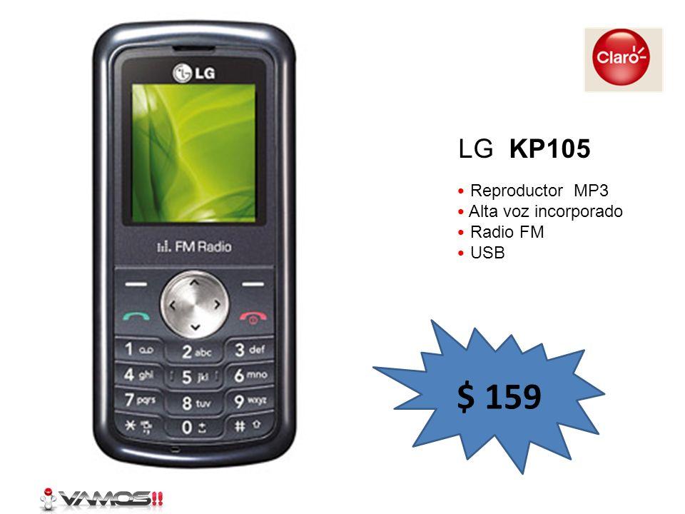 LG KP105 Reproductor MP3 Alta voz incorporado Radio FM USB $ 159