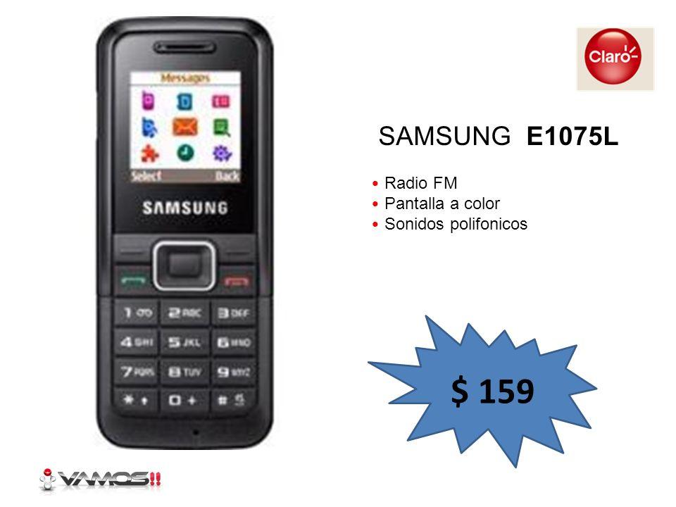 SAMSUNG E1075L Radio FM Pantalla a color Sonidos polifonicos $ 159