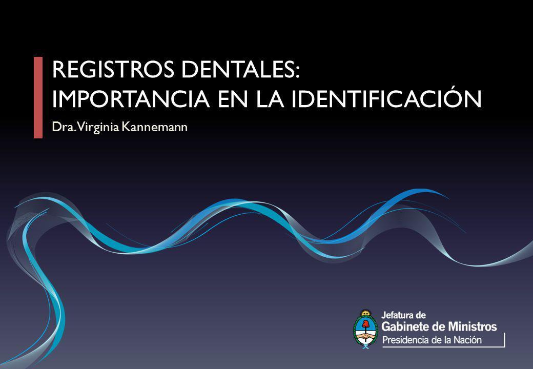 Registros dentales: importancia en la identificación