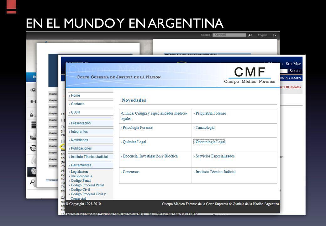EN EL MUNDO y en argentina