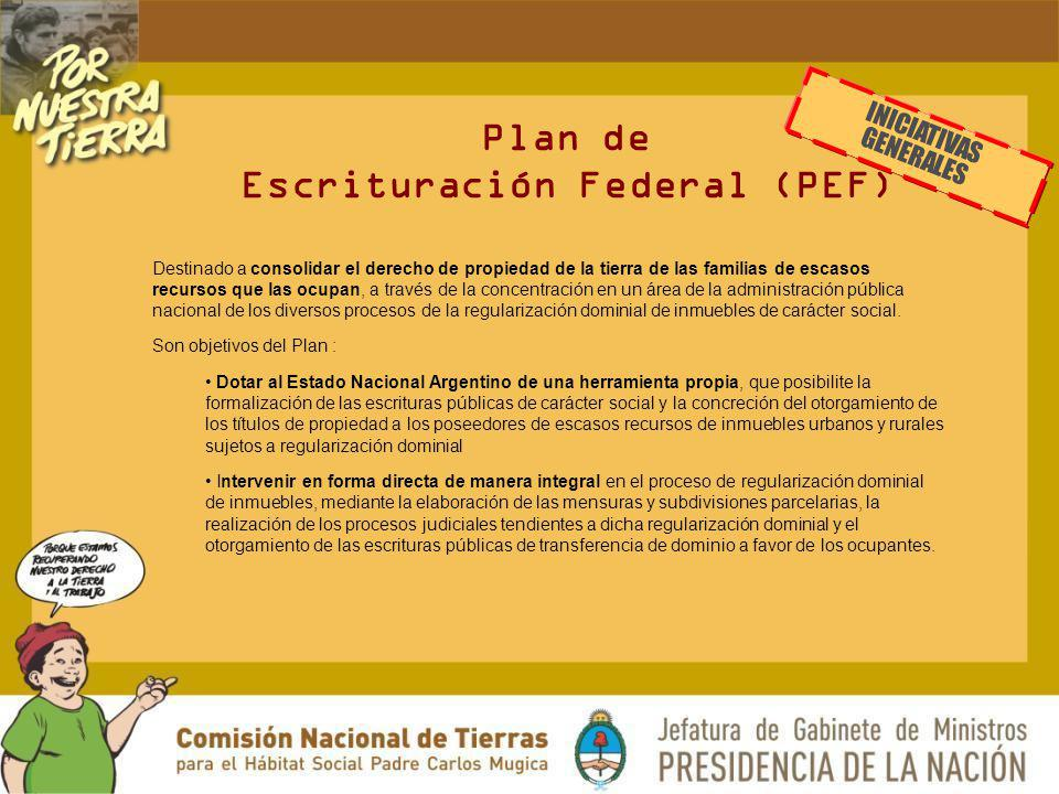 Plan de Escrituración Federal (PEF)