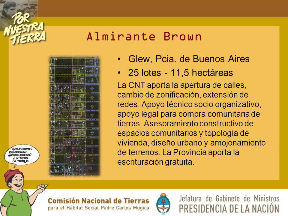 Almirante Brown Glew, Pcia. de Buenos Aires 25 lotes - 11,5 hectáreas