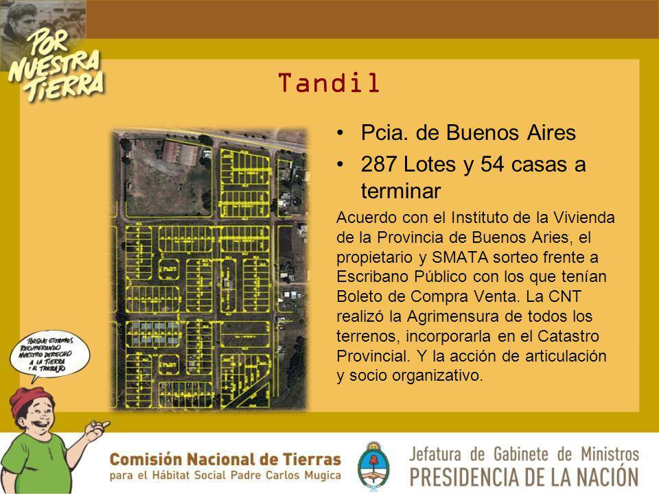 Tandil Pcia. de Buenos Aires 287 Lotes y 54 casas a terminar