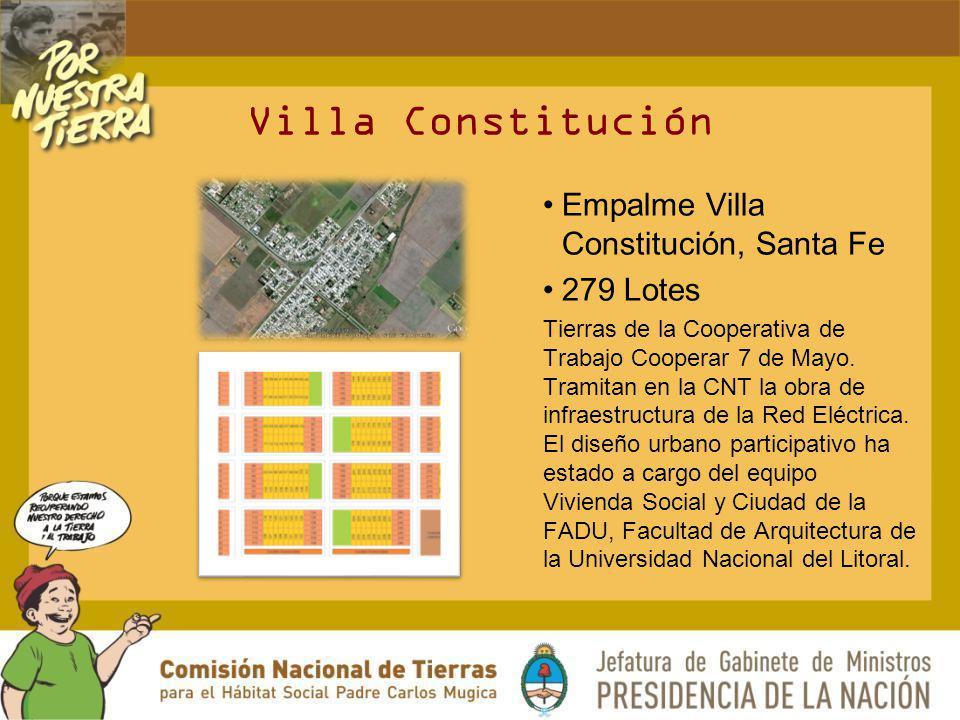 Villa Constitución Empalme Villa Constitución, Santa Fe 279 Lotes