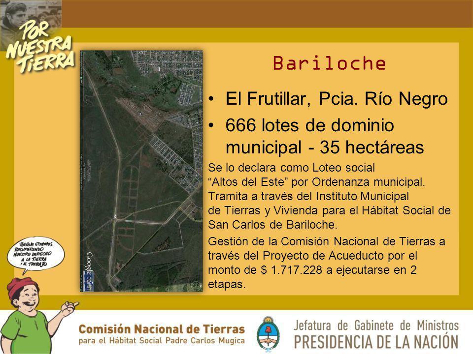 Bariloche El Frutillar, Pcia. Río Negro