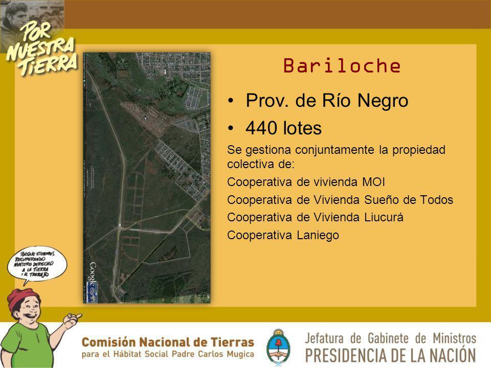 Bariloche Prov. de Río Negro 440 lotes