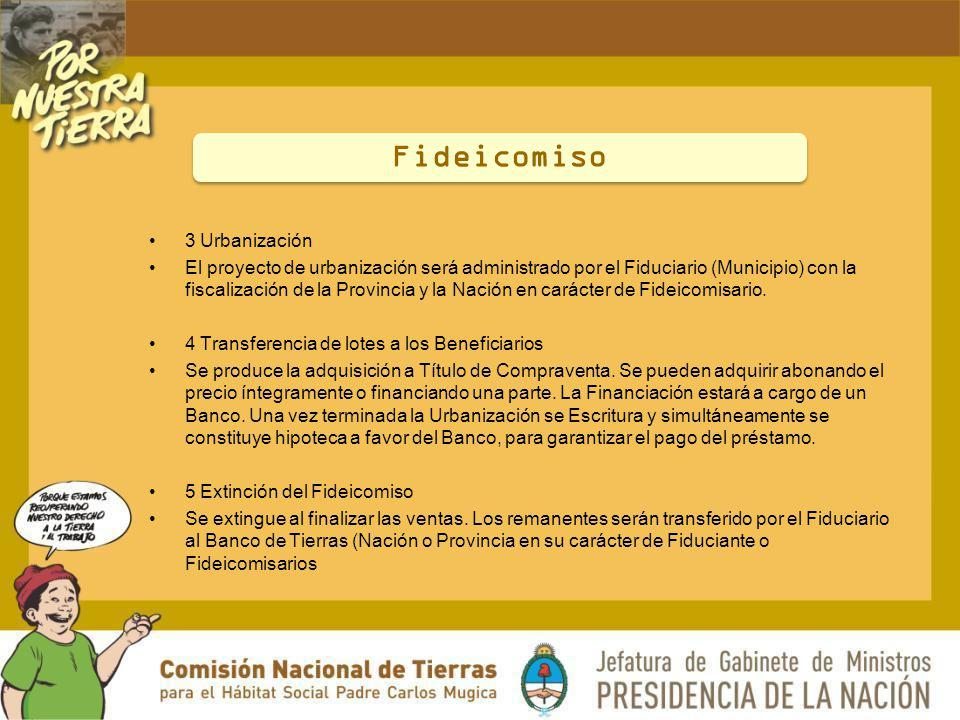 Fideicomiso 3 Urbanización