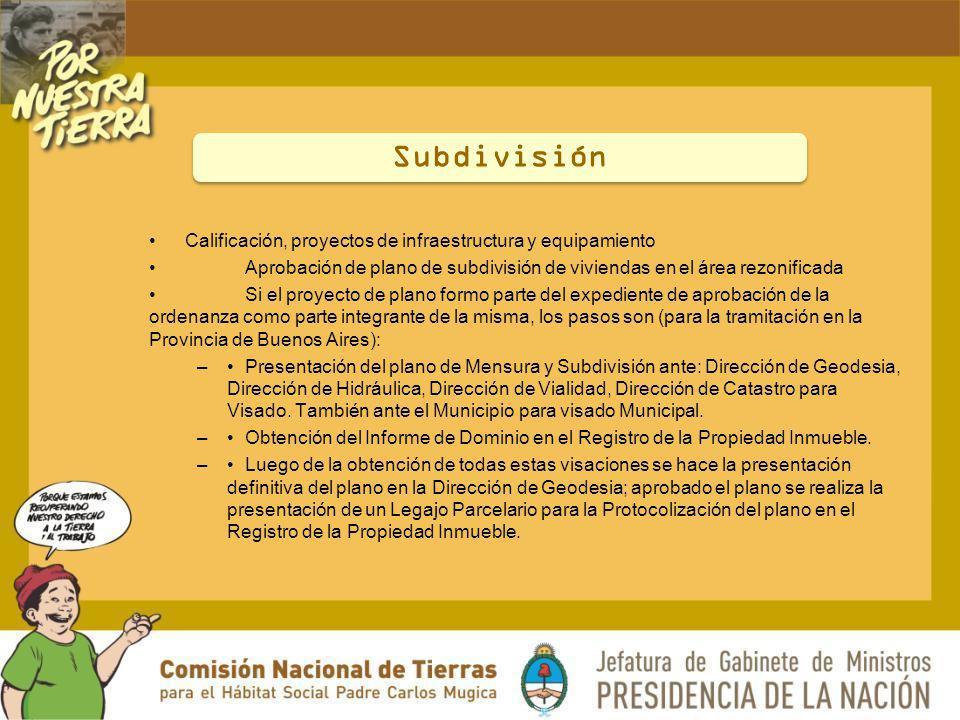 Subdivisión Calificación, proyectos de infraestructura y equipamiento