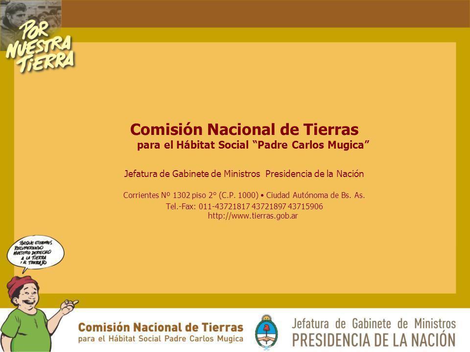 Comisión Nacional de Tierras para el Hábitat Social Padre Carlos Mugica