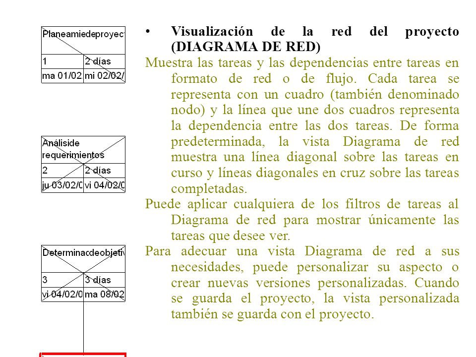 Visualización de la red del proyecto (DIAGRAMA DE RED)