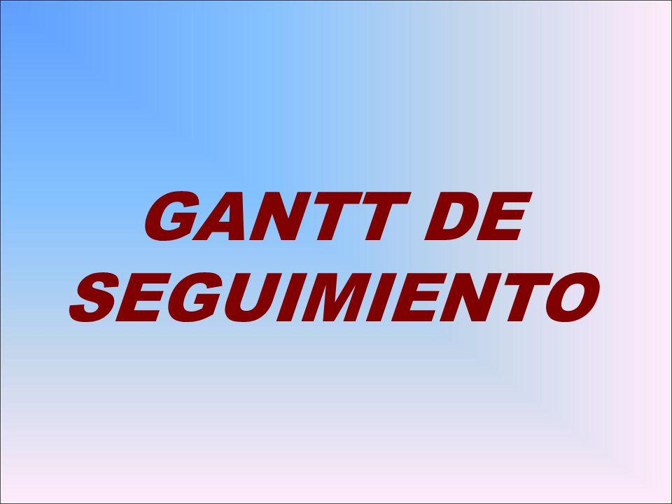 GANTT DE SEGUIMIENTO