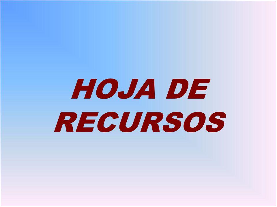 HOJA DE RECURSOS