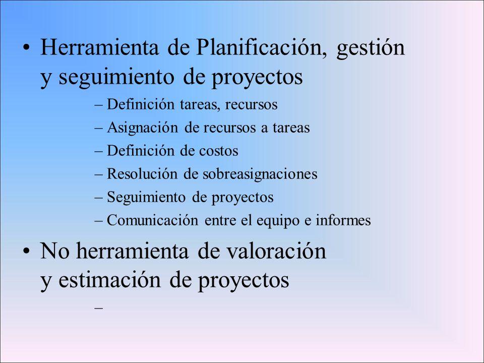 Herramienta de Planificación, gestión y seguimiento de proyectos
